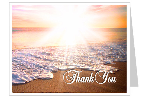 Radiance Funeral Thank You Card Template
