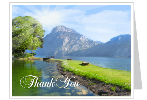 Reflection Funeral Thank You Card Template