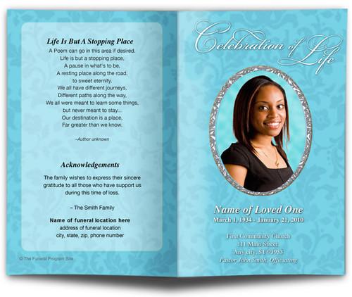 Whitney Letter Single Fold Program Template