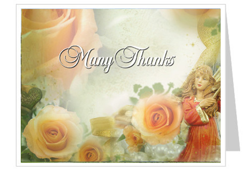 Rejoice Funeral Thank You Card Template