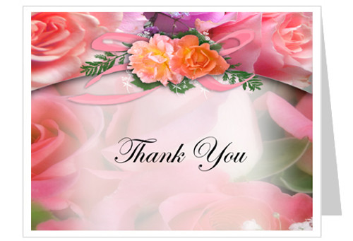 Rosy Thank You Card Template