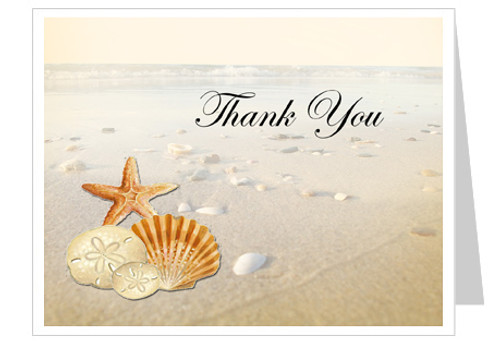 Seashore Thank You Card Template