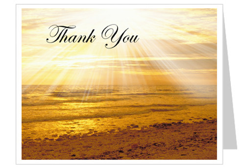 Shine Thank You Card Template