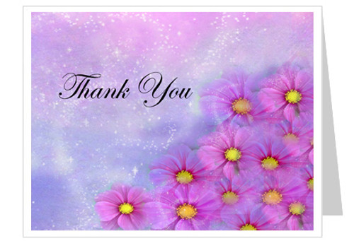 Sparkle Thank You Card Template