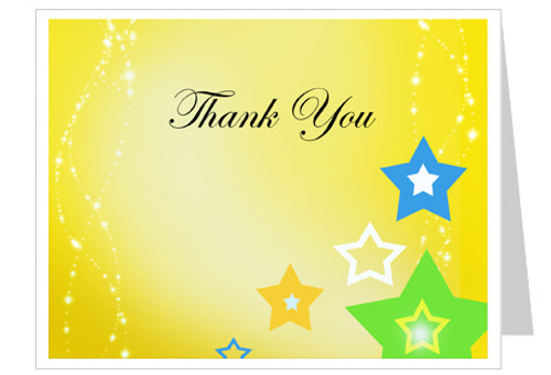 Starry Funeral Thank You Card Template