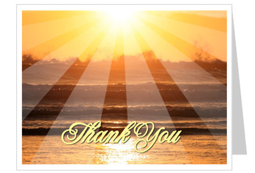 Sunrise Funeral Thank You Card Template