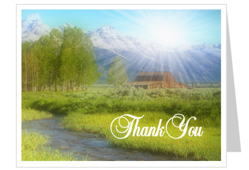 Tranquil Funeral Thank You Card Template