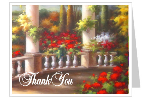 Tuscany Funeral Thank You Card Template