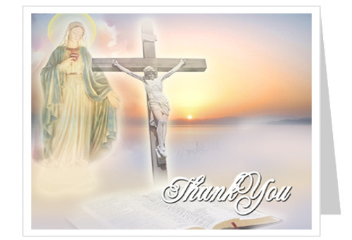 Vision Funeral Thank You Card Template
