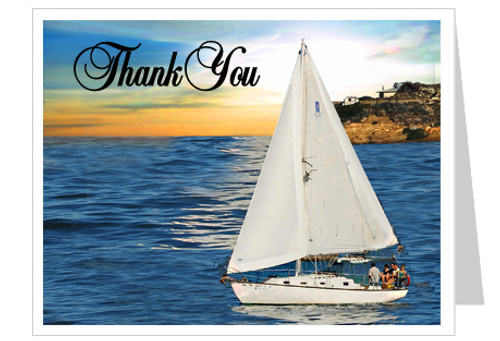 Voyage Funeral Thank You Card Template