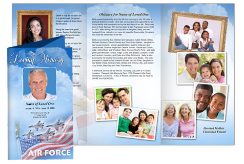 Air Force Tri Fold Brochure Template (Legal Size)