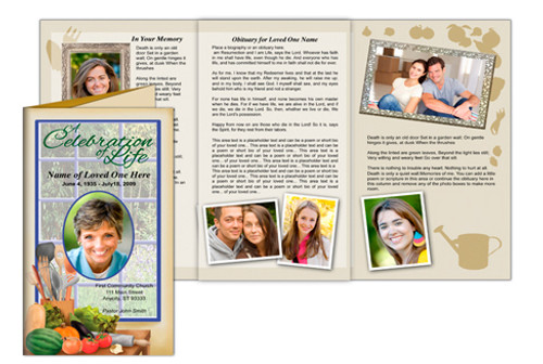 Chef DIY Legal Funeral Tri Fold Brochure Template