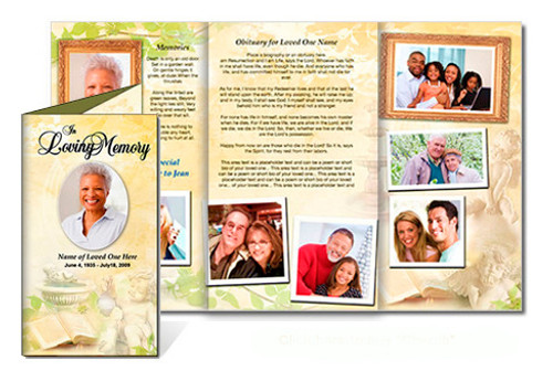Cherub DIY Legal Funeral Tri Fold Brochure Template