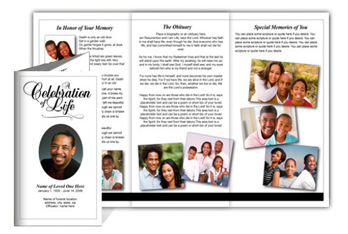 Classic DIY Legal Funeral Tri Fold Brochure Template