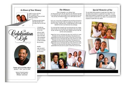 Classic DIY Legal Funeral Tri Fold Brochure Template