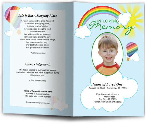 Bright Funeral Program Template