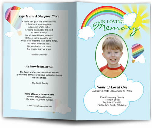 Bright Funeral Program Template