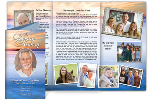 Dusk DIY Legal Funeral Tri Fold Brochure Template