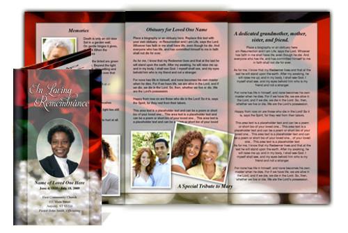 Elegance Legal Funeral Tri Fold Brochure Template