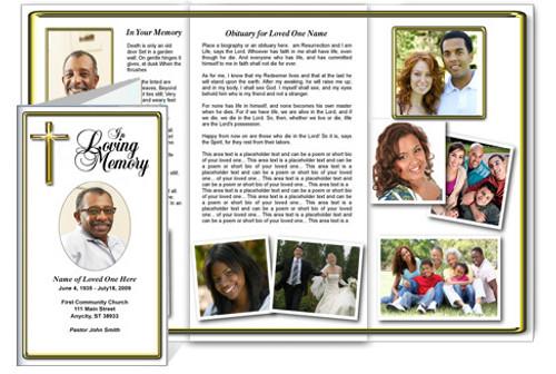 Embassy Legal Funeral Tri Fold Brochure Template