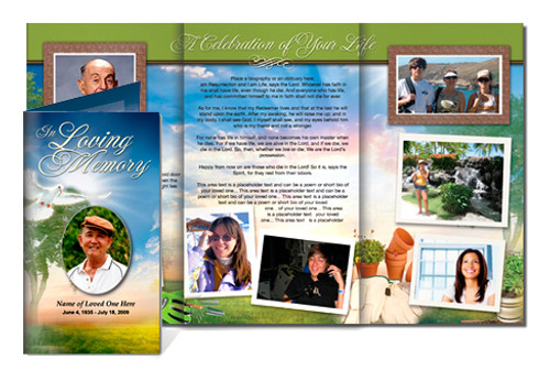 Gardener Legal Funeral Tri Fold Brochure Template
