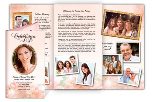 Garland Legal Funeral Tri Fold Brochure Template