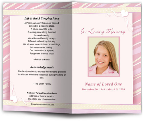 Carly Funeral Program Template