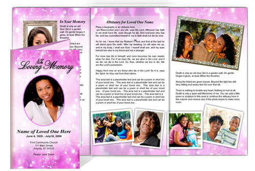 Glitter Legal Funeral Tri Fold Brochure Template