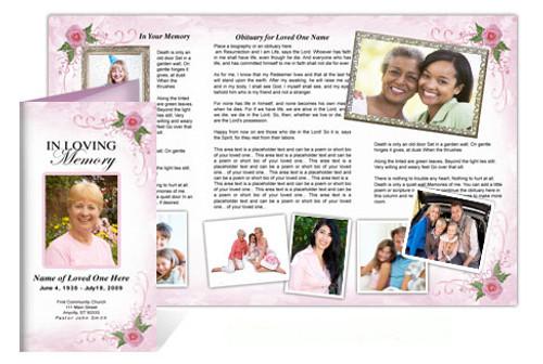 Lovely DIY Funeral Tri Fold Brochure Template