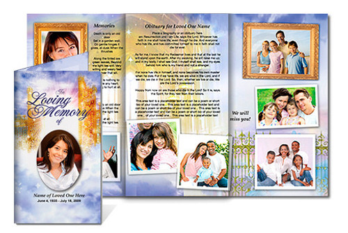 Pathway DIY Funeral Tri Fold Brochure Template
