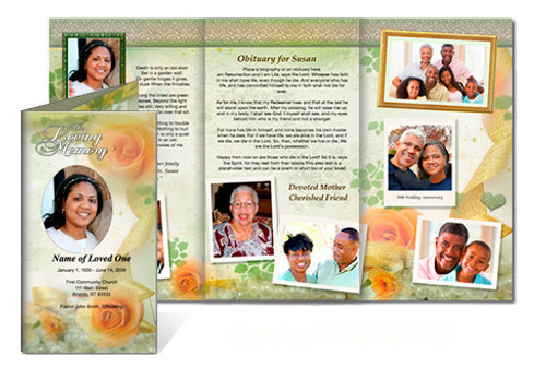 Rejoice DIY Legal Funeral Tri Fold Brochure Template