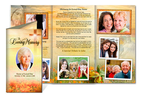 Savior Tri Fold Brochure Template (Legal Size)