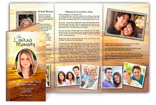 Shine DIY Legal Funeral Tri Fold Brochure Template