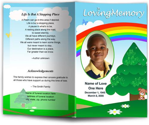 delight funeral program