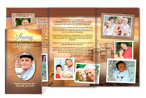 Timeless DIY Legal Funeral Tri Fold Brochure Template