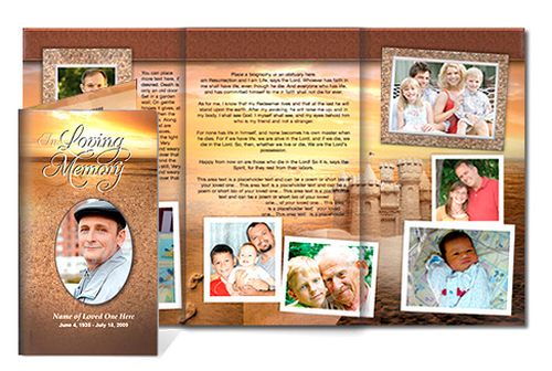 Timeless DIY Legal Funeral Tri Fold Brochure Template
