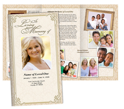 Alexandria Large Tabloid Trifold Funeral Brochures Template