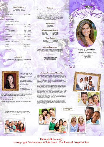 amethyst large tabloid trifold funeral brochures template