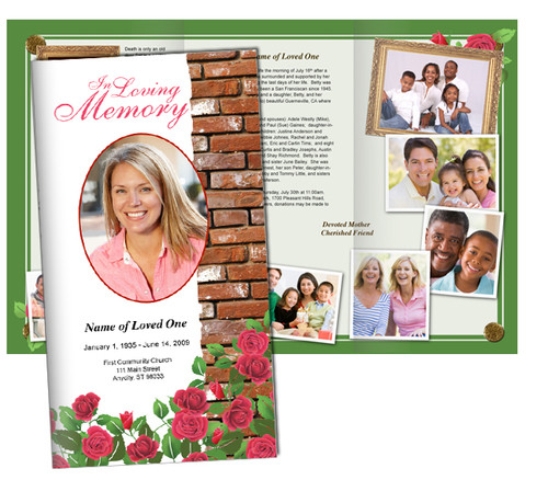 Auster Large Tabloid Trifold Funeral Brochures Template
