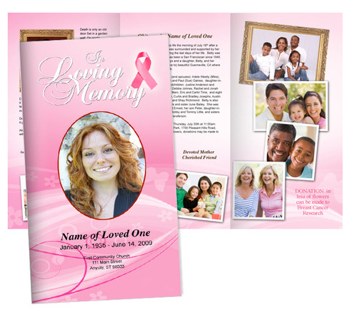 Awareness Large Tabloid Trifold Funeral Brochures Template