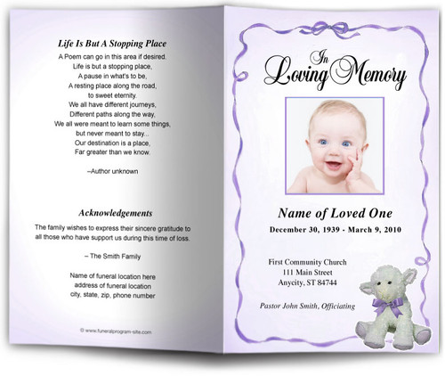 dreamstime lavender Funeral Program Template