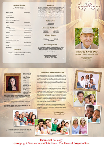 Crossing Large Tabloid Trifold Funeral Brochures Template sinside view