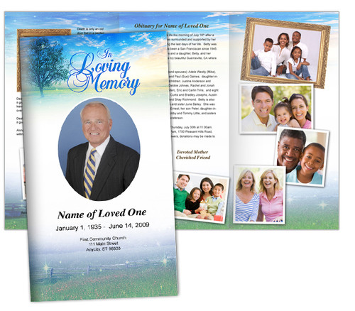 Destiny Large Trifold Funeral Brochures Template