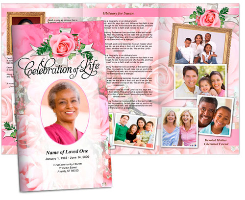precious large trifold funeral brochures template
