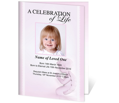 Angela A4 Program Funeral Order of Service Template