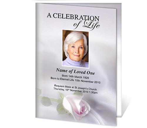 Beloved A4 Program Funeral Order of Service Template
