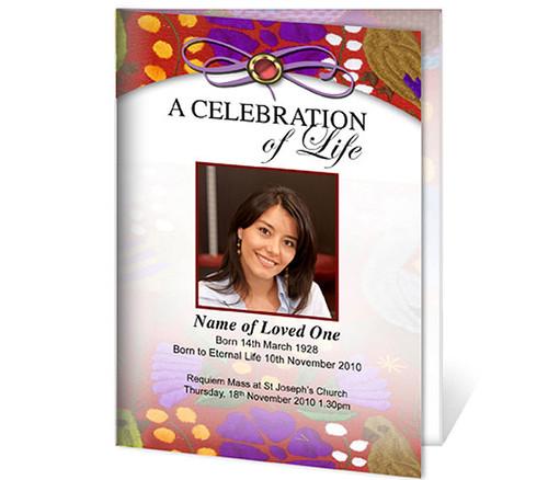 Bonita A4 Program Funeral Order of Service Template