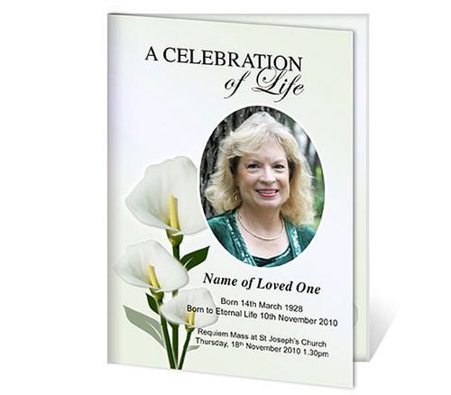 Calle A4 Funeral Service Program Template