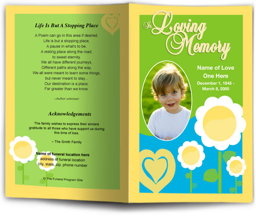 playful Funeral Program Template