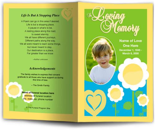 playful Funeral Program Template
